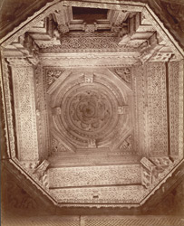 Portico ceiling of Sas Bahu temple, Gwalior Fort.